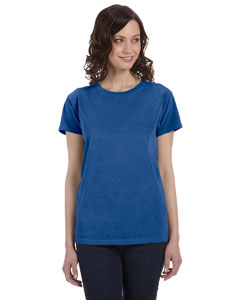 Neon Dark Blue Women's 5.6 oz. Pigment-Dyed & Direct-Dyed Ringspun T-Shirt