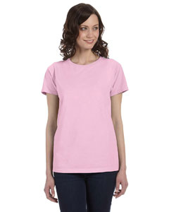 Pink Women's 5.6 oz. Pigment-Dyed & Direct-Dyed Ringspun T-Shirt