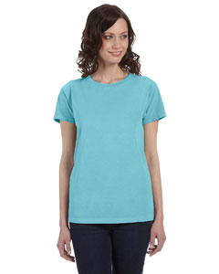 Tropical Blue Women's 5.6 oz. Pigment-Dyed & Direct-Dyed Ringspun T-Shirt