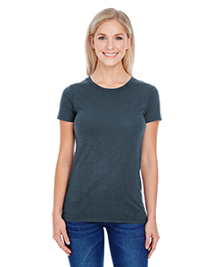 Charcoal Slub Ladies' Slub Jersey Short-Sleeve Tee