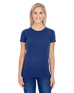 Navy Slub Ladies' Slub Jersey Short-Sleeve Tee