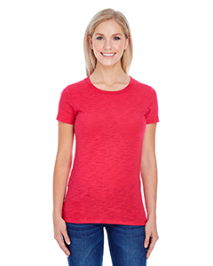 Red Slub Ladies' Slub Jersey Short-Sleeve Tee