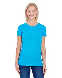 Turquoise Slub Ladies' Slub Jersey Short-Sleeve Tee