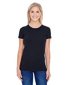 Black Slub Ladies' Slub Jersey Short-Sleeve Tee