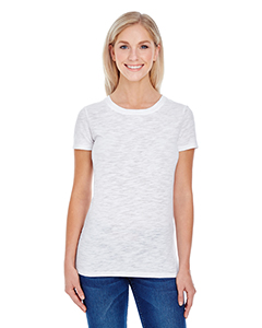 White Slub Ladies' Slub Jersey Short-Sleeve Tee
