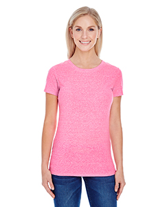 Neon Pink Tribld Ladies' Triblend Short-Sleeve Tee