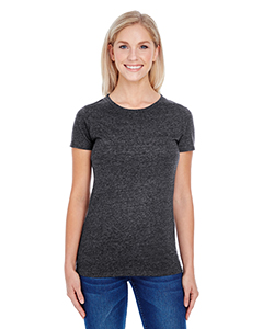 Black Triblend Ladies' Triblend Short-Sleeve Tee