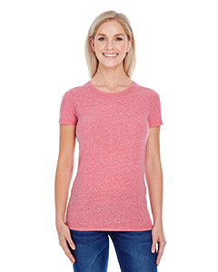 Red Triblend Ladies' Triblend Short-Sleeve Tee