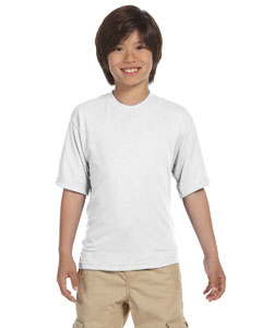 White Youth 5.3 oz., 100% Polyester SPORT with Moisture-Wicking T-Shirt