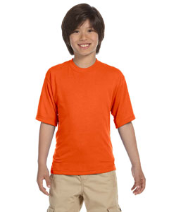 Safety Orange Youth 5.3 oz., 100% Polyester SPORT with Moisture-Wicking T-Shirt