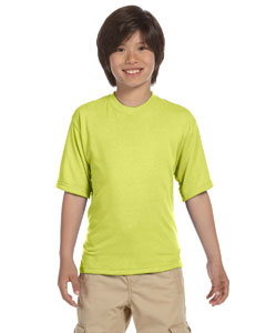 Safety Green Youth 5.3 oz., 100% Polyester SPORT with Moisture-Wicking T-Shirt