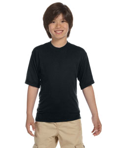 Black Youth 5.3 oz., 100% Polyester SPORT with Moisture-Wicking T-Shirt