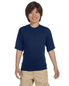 J Navy Youth 5.3 oz., 100% Polyester SPORT with Moisture-Wicking T-Shirt