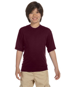 Maroon Youth 5.3 oz., 100% Polyester SPORT with Moisture-Wicking T-Shirt