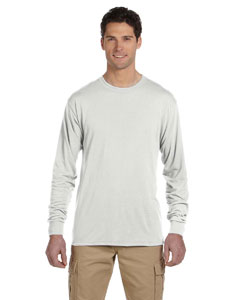 White 5.3 oz., 100% Polyester SPORT with Moisture-Wicking Long-Sleeve T-Shirt