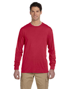 True Red 5.3 oz., 100% Polyester SPORT with Moisture-Wicking Long-Sleeve T-Shirt