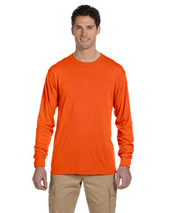 Safety Orange 5.3 oz., 100% Polyester SPORT with Moisture-Wicking Long-Sleeve T-Shirt