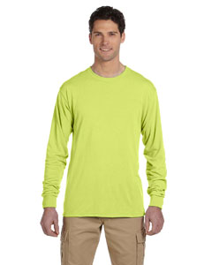 Safety Green 5.3 oz., 100% Polyester SPORT with Moisture-Wicking Long-Sleeve T-Shirt
