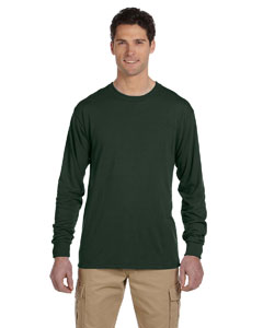 Forest Green 5.3 oz., 100% Polyester SPORT with Moisture-Wicking Long-Sleeve T-Shirt