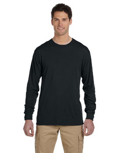 Black 5.3 oz., 100% Polyester SPORT with Moisture-Wicking Long-Sleeve T-Shirt