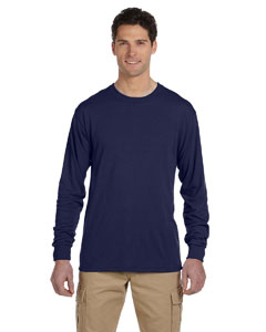 J Navy 5.3 oz., 100% Polyester SPORT with Moisture-Wicking Long-Sleeve T-Shirt