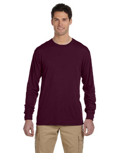 Maroon 5.3 oz., 100% Polyester SPORT with Moisture-Wicking Long-Sleeve T-Shirt