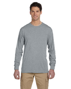 Athletic Heather 5.3 oz., 100% Polyester SPORT with Moisture-Wicking Long-Sleeve T-Shirt