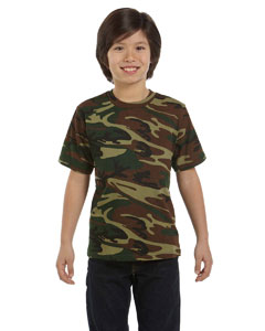Green Woodland Youth Camouflage T-Shirt