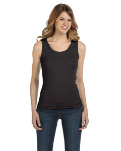 Smoke Women's Combed Ringspun 2x1 Rib Tank Top