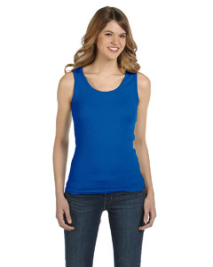 Royal Blue Women's Combed Ringspun 2x1 Rib Tank Top