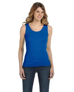Royal Blue Women's Combed Ringspun 2x1 Rib Tank Top
