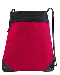 Red Coast to Coast Drawstring Pack