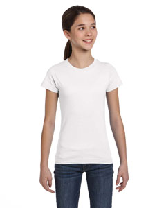 White Girls' Fine Jersey T-Shirt