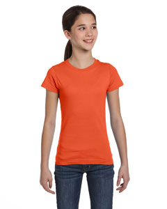 Orange Girls' Fine Jersey T-Shirt