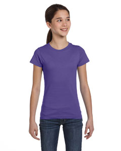 Purple Girls' Fine Jersey T-Shirt