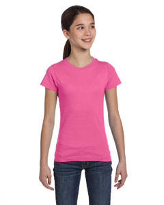 Raspberry Girls' Fine Jersey T-Shirt