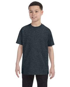 Black Heather Youth 5.6 oz., 50/50 Heavyweight Blend™ T-Shirt