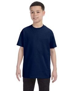 J Navy Youth 5.6 oz., 50/50 Heavyweight Blend™ T-Shirt