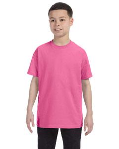 Neon Pink Youth 5.6 oz., 50/50 Heavyweight Blend™ T-Shirt
