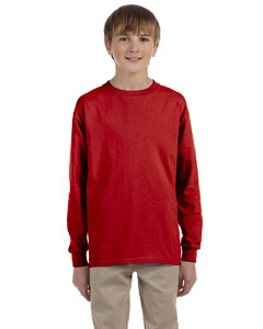 True Red Youth 5.6 oz., 50/50 Heavyweight Blend™ Long-Sleeve T-Shirt