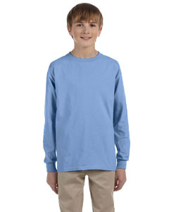 Light Blue Youth 5.6 oz., 50/50 Heavyweight Blend™ Long-Sleeve T-Shirt