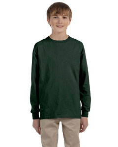 Forest Green Youth 5.6 oz., 50/50 Heavyweight Blend™ Long-Sleeve T-Shirt