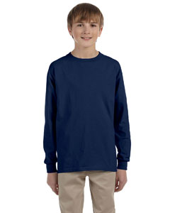J Navy Youth 5.6 oz., 50/50 Heavyweight Blend™ Long-Sleeve T-Shirt