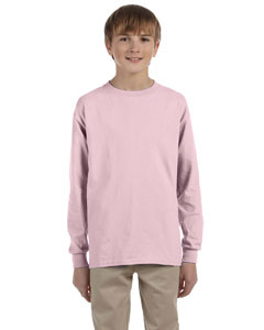 Classic Pink Youth 5.6 oz., 50/50 Heavyweight Blend™ Long-Sleeve T-Shirt