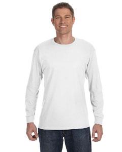White 5.6 oz., 50/50 Heavyweight Blend™ Long-Sleeve T-Shirt