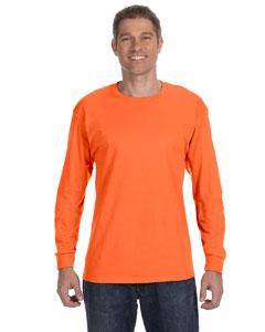 Safety Orange 5.6 oz., 50/50 Heavyweight Blend™ Long-Sleeve T-Shirt