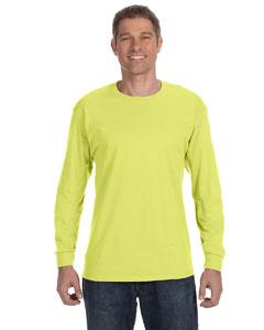 Safety Green 5.6 oz., 50/50 Heavyweight Blend™ Long-Sleeve T-Shirt