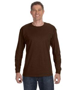 Chocolate 5.6 oz., 50/50 Heavyweight Blend™ Long-Sleeve T-Shirt