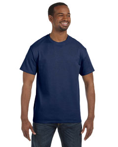 J Navy 5.6 oz., 50/50 Heavyweight Blend™ T-Shirt