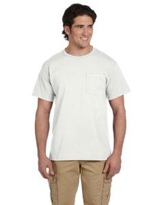 White 5.6 oz., 50/50 Heavyweight Blend™ Pocket T-Shirt